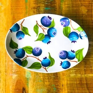 Harry & David Blueberry Platter - Ceramic - Oval